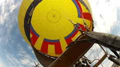 Hot-air balloon flight over Teotihuacan. Mexico Stock Footage