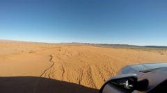 Driving in the desert with a 4wd car Stock Footage