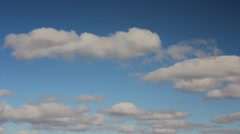 Interval filming beautiful clouds Stock Footage