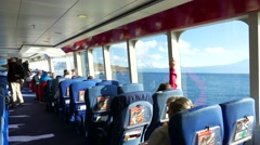 4K HD Ferry Fred Olsen to La Gomera island Canary islands Spain Stock Footage
