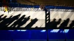 4K HD Passengers shadow on ferry deck Tenerife La Gomera island Canary islands Stock Footage