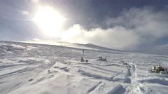 Enjoying a stay in Breckenridge Ski Resort Stock Footage