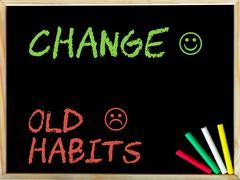 Change Old Habits Stock Photos