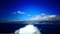 4K HD Ferry Fred Olsen leaving La Gomera Canary islands Spain Stock Footage