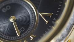 4K - Watch macro slide view Stock Footage