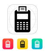 Billing machine icon Stock Illustration