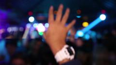 Nightclub Hands Air Stock Footage