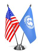 USA and UNICEF - Miniature Flags Stock Illustration