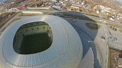 PGA Arena Aerial, Gdansk, Poland Stock Footage