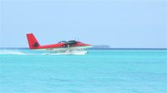 Waterplane taking off Stock Footage