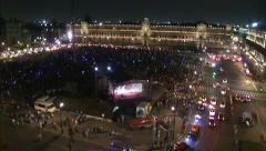Evening Zocalo. Day of the Dead celebration. Mexico.Time Lapse - stock footage