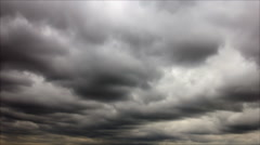 Gray lead clouds Stock Footage