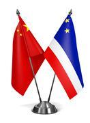 China and Gagauzia - Miniature Flags Stock Illustration