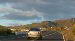 San Sebastian GM-2 road to National Park Garajonay La Gomera Canary islands Stock Footage