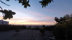 Morning sunrise, Los Angeles dawn sky time-lapse - stock footage