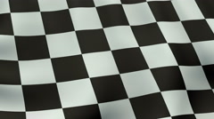 4K UltraHD Loopable waving checkered flag animation Stock Footage