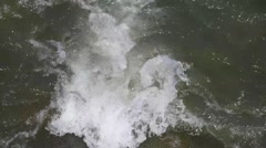 Fast Section of Turbulent Moving Water Stock Footage