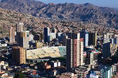 Stadium Estadio Hernando Siles in La Paz, Bolivia - stock photo