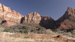 Zion National Park Western North America Scenery Stock Footage