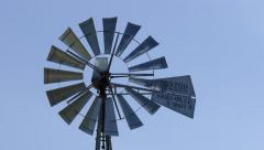4K Windmill blowing in the wind - stock footage