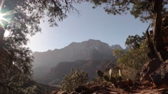 Spectacular Western Scenery at Zion National Park Stock Footage