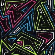 spectrum maze seamless pattern - stock illustration