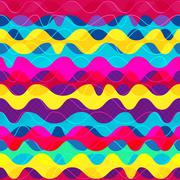 psychedelic wave seamless pattern - stock illustration