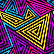 Psychedelic spiral seamless pattern Stock Illustration
