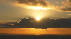 4K Sun rise Sunrise Sun rising up Stock Footage
