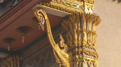 Temple at the Wat Intharawihan in Bangkok, Thailand Stock Footage