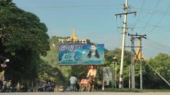 Road to Mandalay Hill,Mandalay,Burma - stock footage