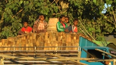 Kids on a cargo truck,Mandalay,Burma Stock Footage