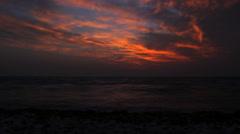 Beautiful timelapse Sea Sunset Beach. Mediterranean Sea Stock Footage