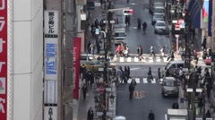 Traffic in the Ginza district, Tokyo, Japan Stock Footage