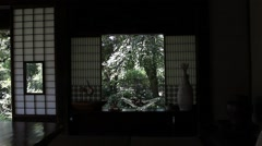 Japanese traditional house Stock Footage