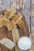 Flat bread sticks - stock photo