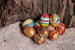Colorfull easter egg - stock photo