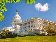 Stock Photo of US Capitol at sunny day