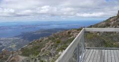 Mount Wellington Tasmania Lookout Stock Footage