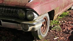 Old rusty convertible. - stock footage
