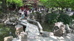 Yuyuan Garden slider filming  8518 - stock footage