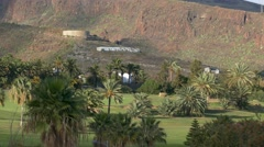 4K UHD Golf Course Hotel Jardin Tecina Playa de Santiago La Gomera Canary Stock Footage
