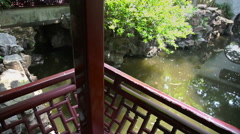 Yuyuan Garden slider filming  8428 - stock footage