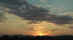 Sunset,Katha,Burma Stock Footage