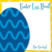 Funky Easter Egg card in vector format. Stock Illustration