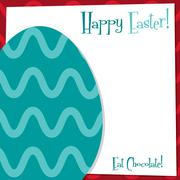 Funky Easter Egg card in vector format. - stock illustration