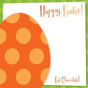 Funky Easter Egg card in vector format. - stock illustration