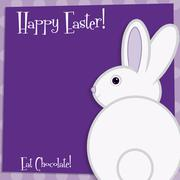 Stock Illustration of Funky Easter bunny card in vector format.