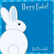 Funky Easter bunny card in vector format. Stock Illustration
