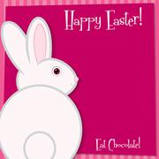 Funky Easter bunny card in vector format. - stock illustration